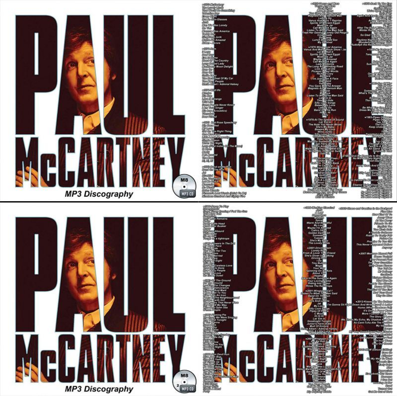 M8■2枚Paul McCartney ポール・マッカートニー MP3-CD