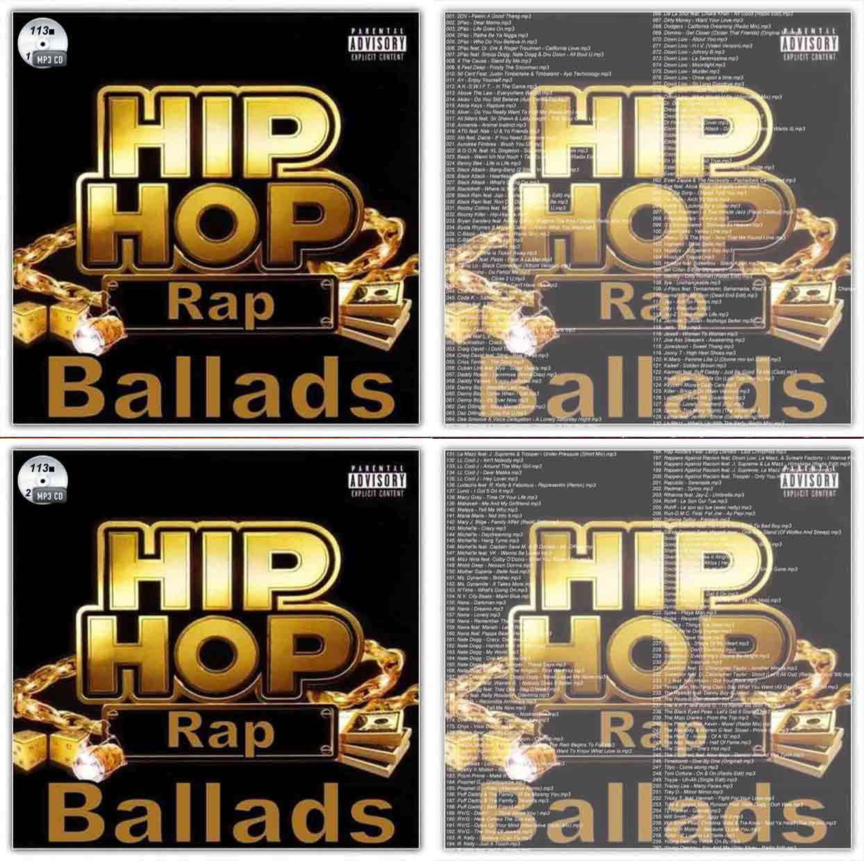 113■2枚 Hip Hop & Rap Ballads 260曲 Daddy Yankee Eminem Jay-Z Rihanna CD