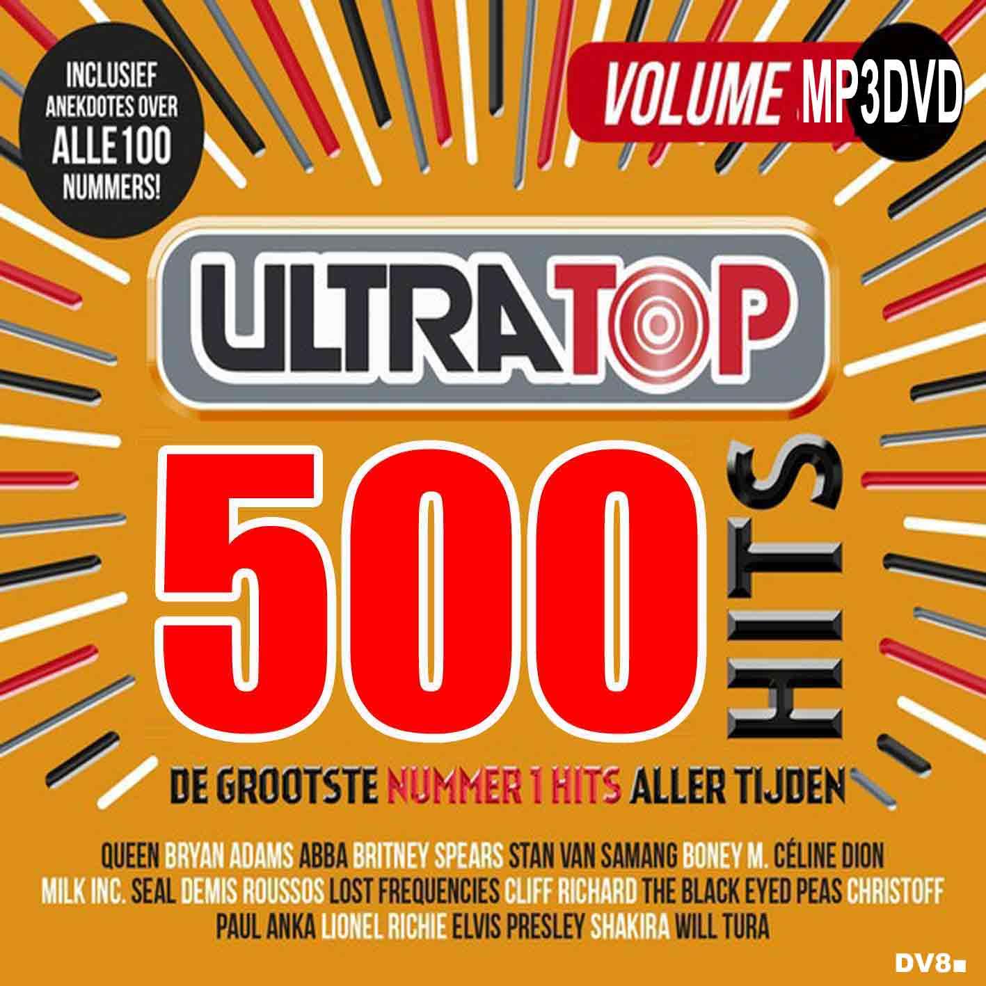DV8■Ultratop 500 Hits (ABBA Queen Rihanna Elvis Presley Lady Gaga MP3DVD